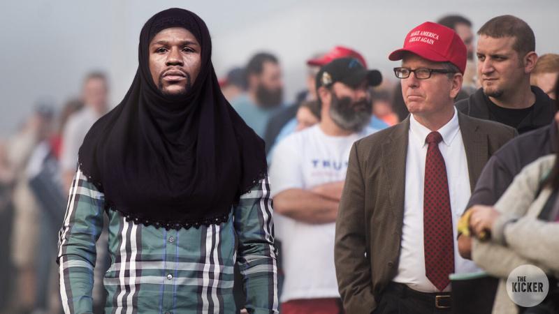مايويذر يرتدي الحجاب