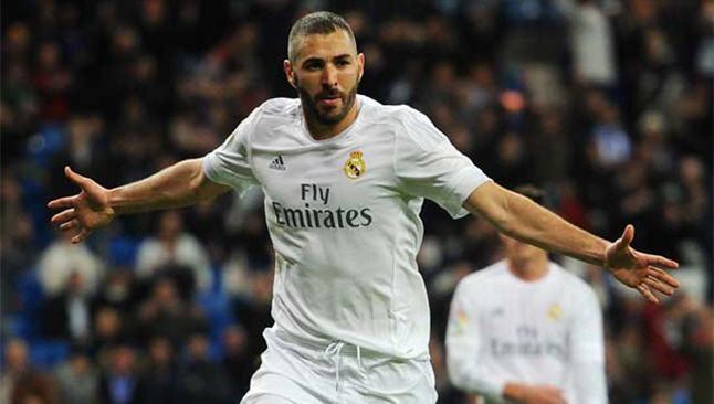 بنزيما يسجل الهدف الثانى لريال مدريد