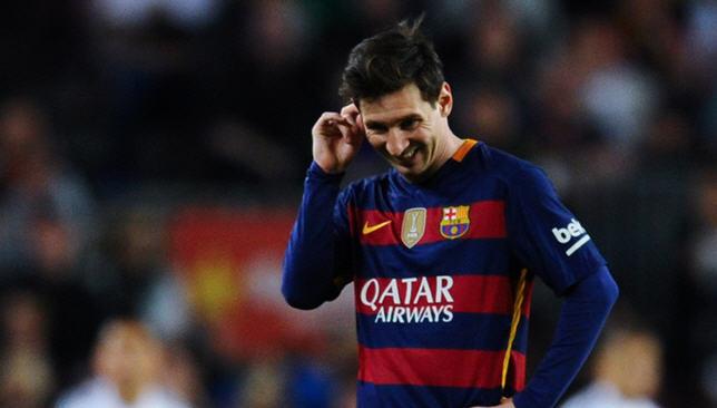 مهاجم برشلونة الإسباني ليونيل ميسي