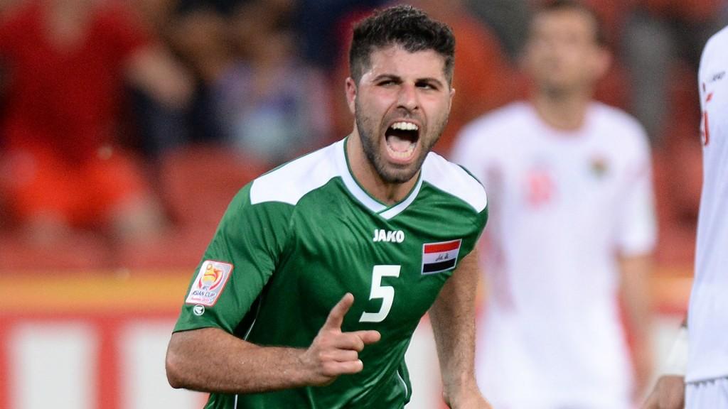 ياسر قاسم بقميص منتخب العراق