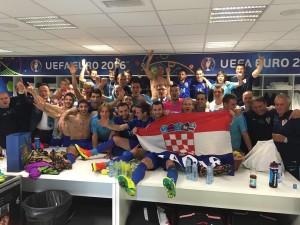 فرحة منتخب كرواتيا بالتأهل في يورو 2016