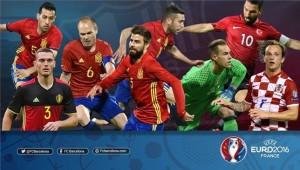 لاعبي برشلونة في يورو 2016