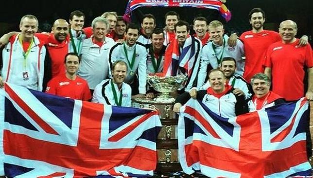 المنتخب البريطاني بطل كأس ديفيز
