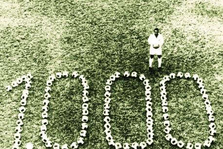 بيليه واحتفاله بالهدف رقم 1000