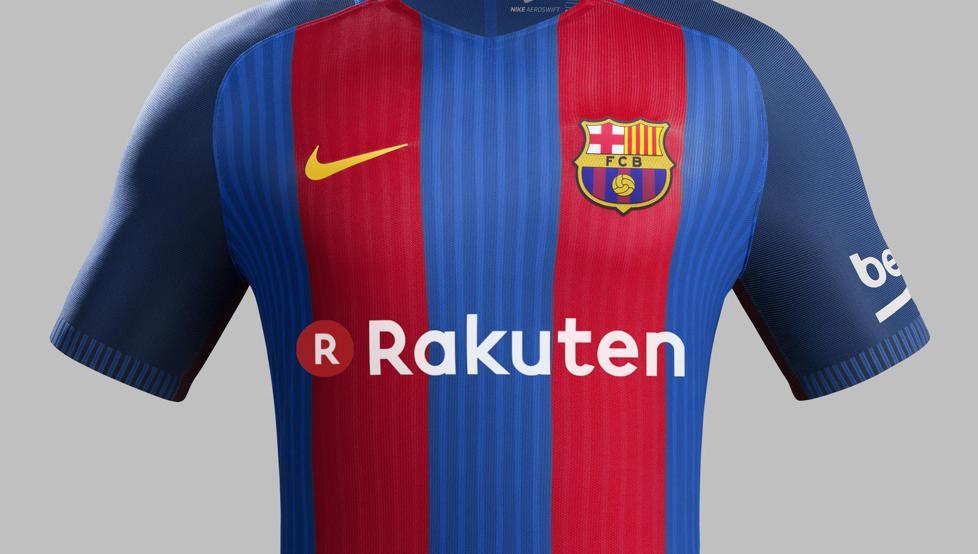قميص برشلونة يحمل شعار راكوتين