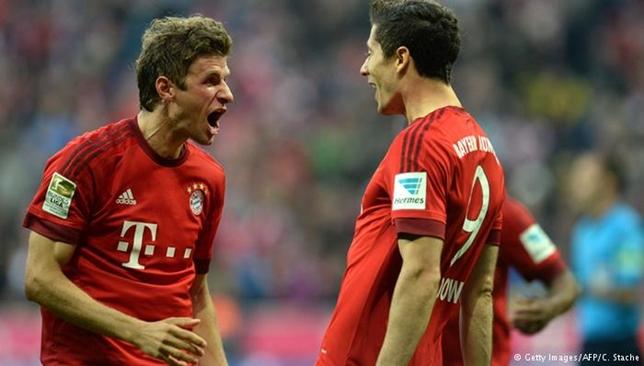 تألق ليفاندوفسكي ومولر في الموسم الماضي مع بايرن فسجل الأول 30 هدفا وسجل الثاني 20 هدفا في الدوري الألماني