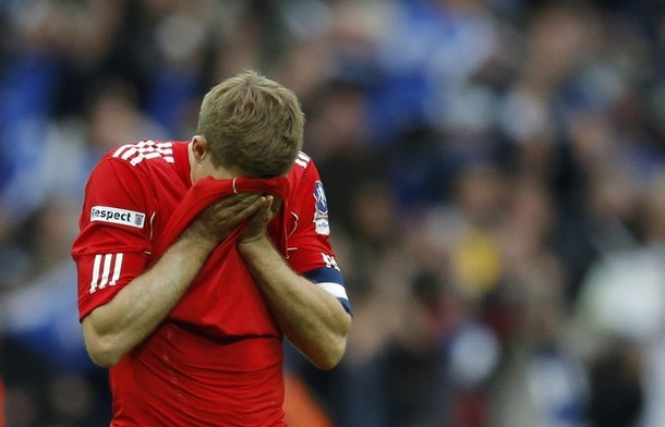 ستفسن جيرارد بعد خسارة لقب كأس إنجلترا