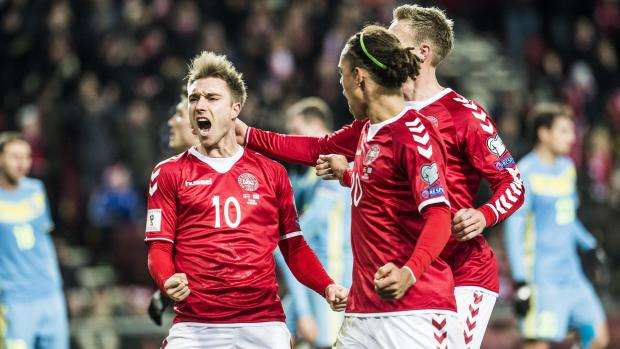 اخبار الامارات العاجلة Danmark الدنمارك تنعش أمالها في التأهل بالفوز على كازاخستان أخبار الرياضة