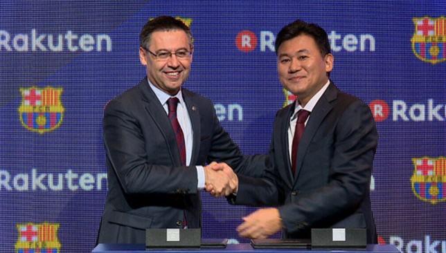 توقيع الشراكة بين برشلونة وشركة راكوتين اليابانية