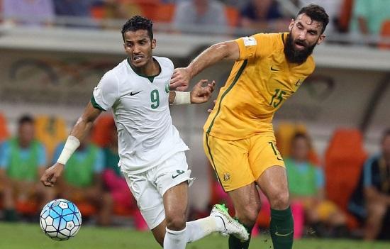 نايف الهزازي في مواجهة منتخب أستراليا 2016