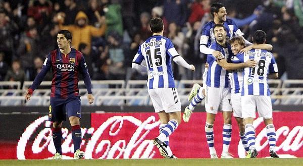 لويس سواريز مصدوم في مواجهة ريال سوسيداد