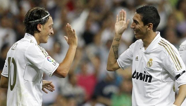 أنخيل دي ماريا ومسعود أوزيل في ريال مدريد