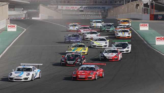 Cullen wins Race 1 Round 3 Porsche GT3CCME Dubai (1)