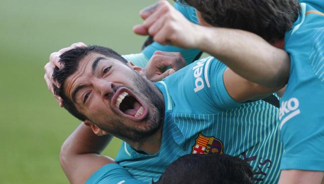 لويس سواريز مهاجم برشلونة الإسباني