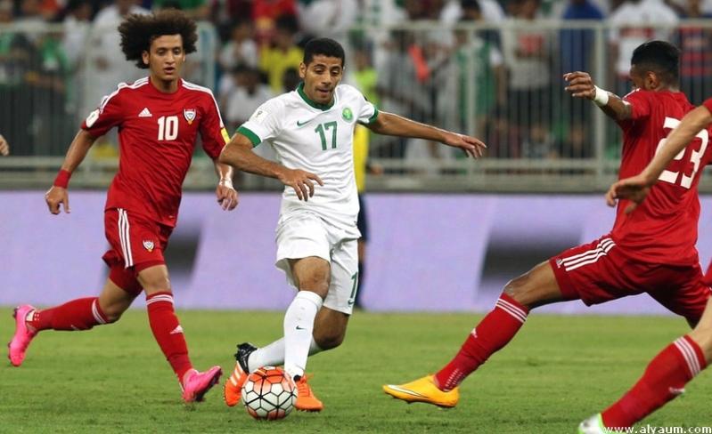 من مباراة المنتخب السعودي أمام نظيره الإماراتي في مرحلة الذهاب