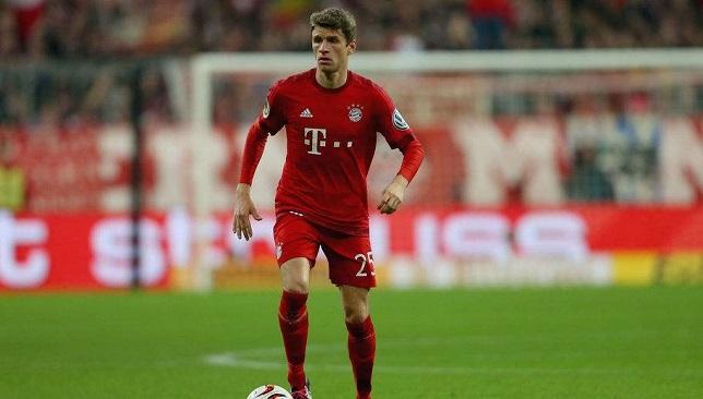 توماس مولر مهاجم فريق بايرن ميونخ الألماني