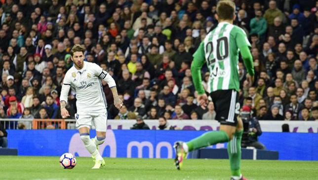 سيرجيو راموس مدافع ريال مدريد الإسباني