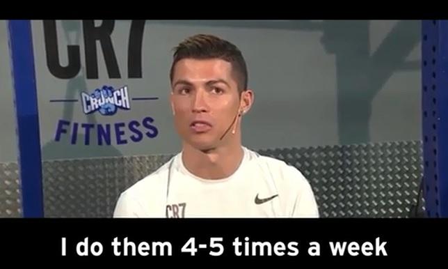 فيديو.. رونالدو يكشف عن طريقة الحصول على عضلات بطن قوية - كرة إسبانية - رونالدو - سبورت360 عربية