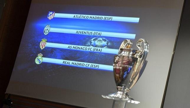 نتائج قرعة دور نصف النهائي بدوري أبطال أوروبا