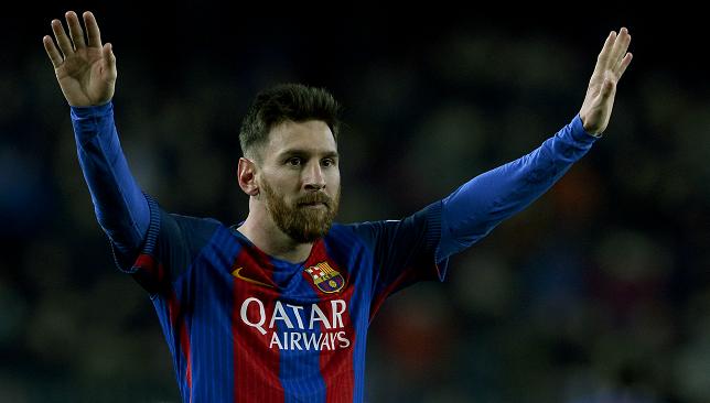 ليونيل ميسي نجم فريق برشلونة الإسباني