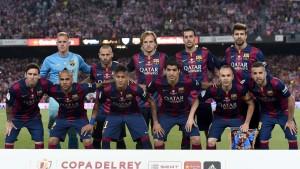 تشكيلة برشلونة في نهائي كأس الملك 14\2015