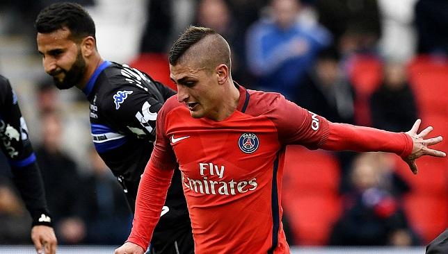 ماركو فيراتي لاعب فريق باريس سان جيرمان الفرنسي