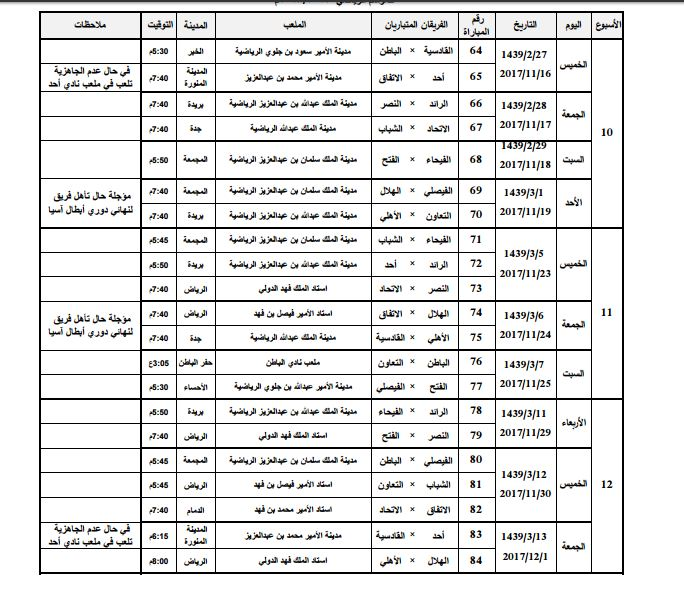 الكشف عن جدول مباريات الدوري السعودي 217 2018 جدول دوري جميل 2017 2018 سبورت 360