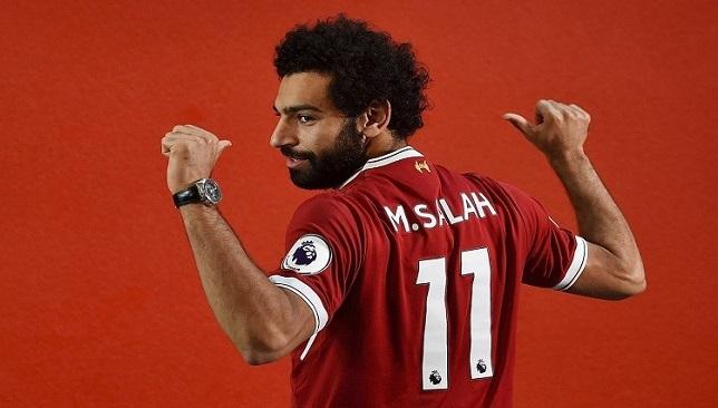 محمد صلاح لاعب فريق ليفربول الإنجليزي