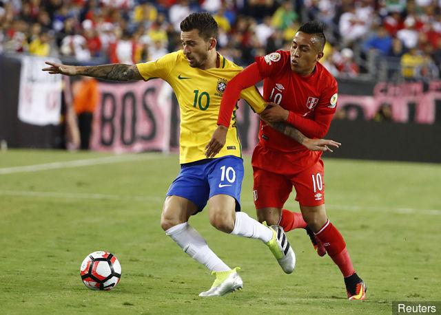 لوكاس ليما مع منتخب البرازيل