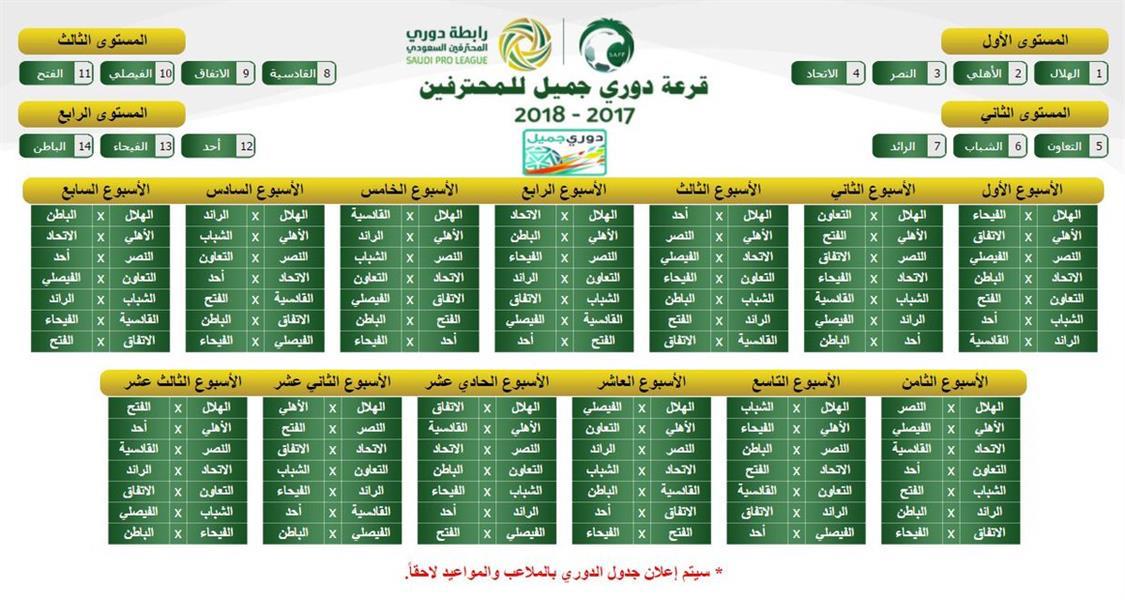 قرعة دوري جميل 2017 2018 قرعة الدوري السعودي 2017 2018 سبورت 360