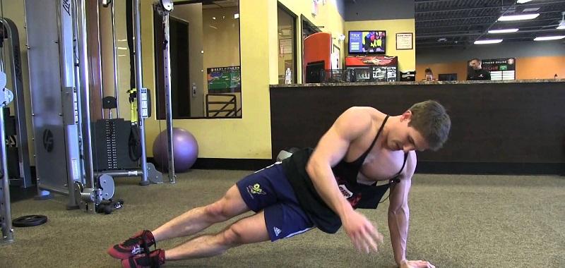 تمارين عضلات البطن الجانبية