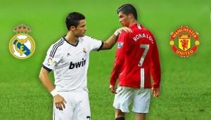 رونالدو بقميص مانشستر يونايتد وريال مدريد