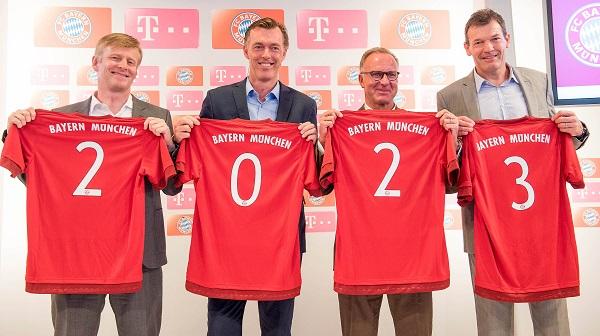 بايرن ميونخ يعقد صفقة مع تيليكوم مقابل 30 مليون يورو سنوياً