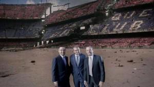 بارتوميو إلى جانب خوان جاسبارت وساندرو روسيل