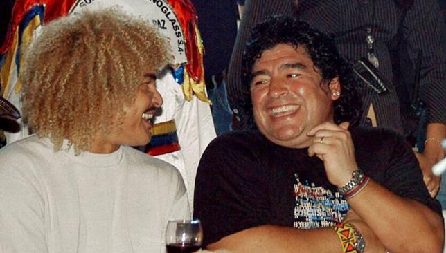 دييجو مارادونا و كارلوس فالديراما