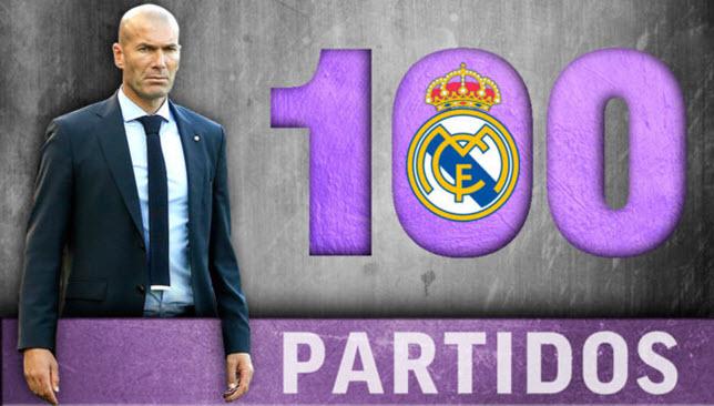زيدان يخوض المباراة رقم 100 مع ريال مدريد