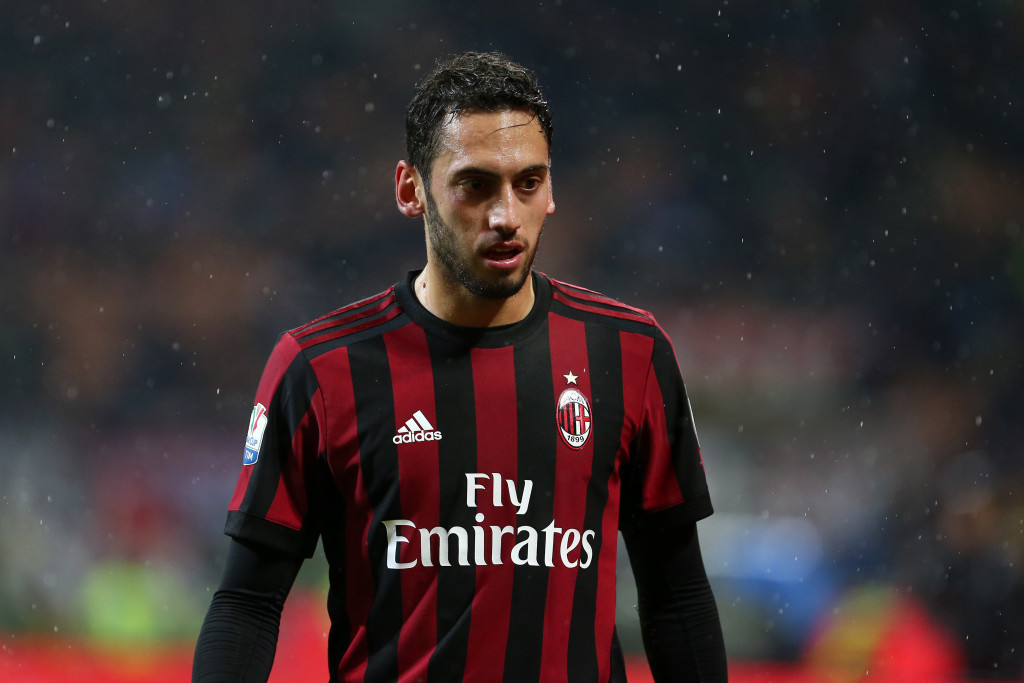 Hakan Calhanoglu of Ac Milan   during the Tim Cup football