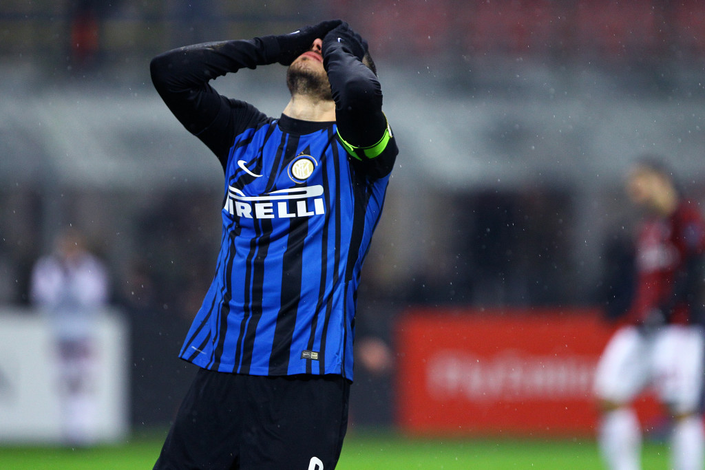 Mauro Icardi of FC Internazionale despair during the Tim