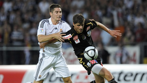 Garcia Javi (L) from Real Madrid fights