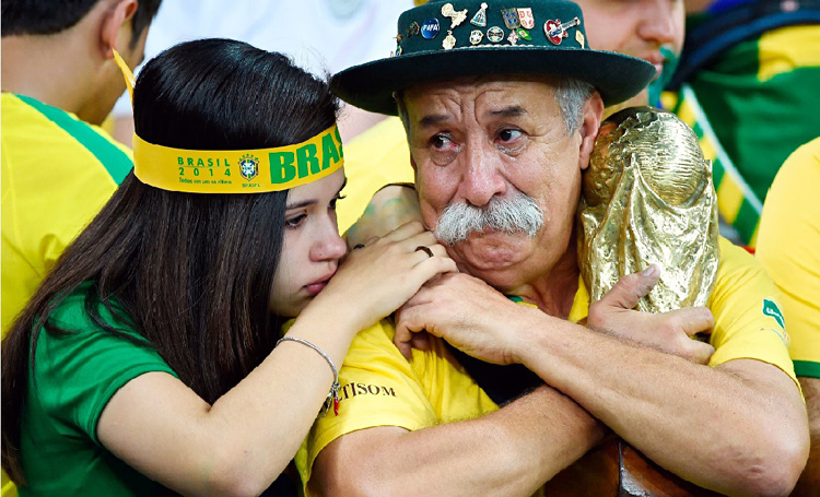Brazil v Germany fans