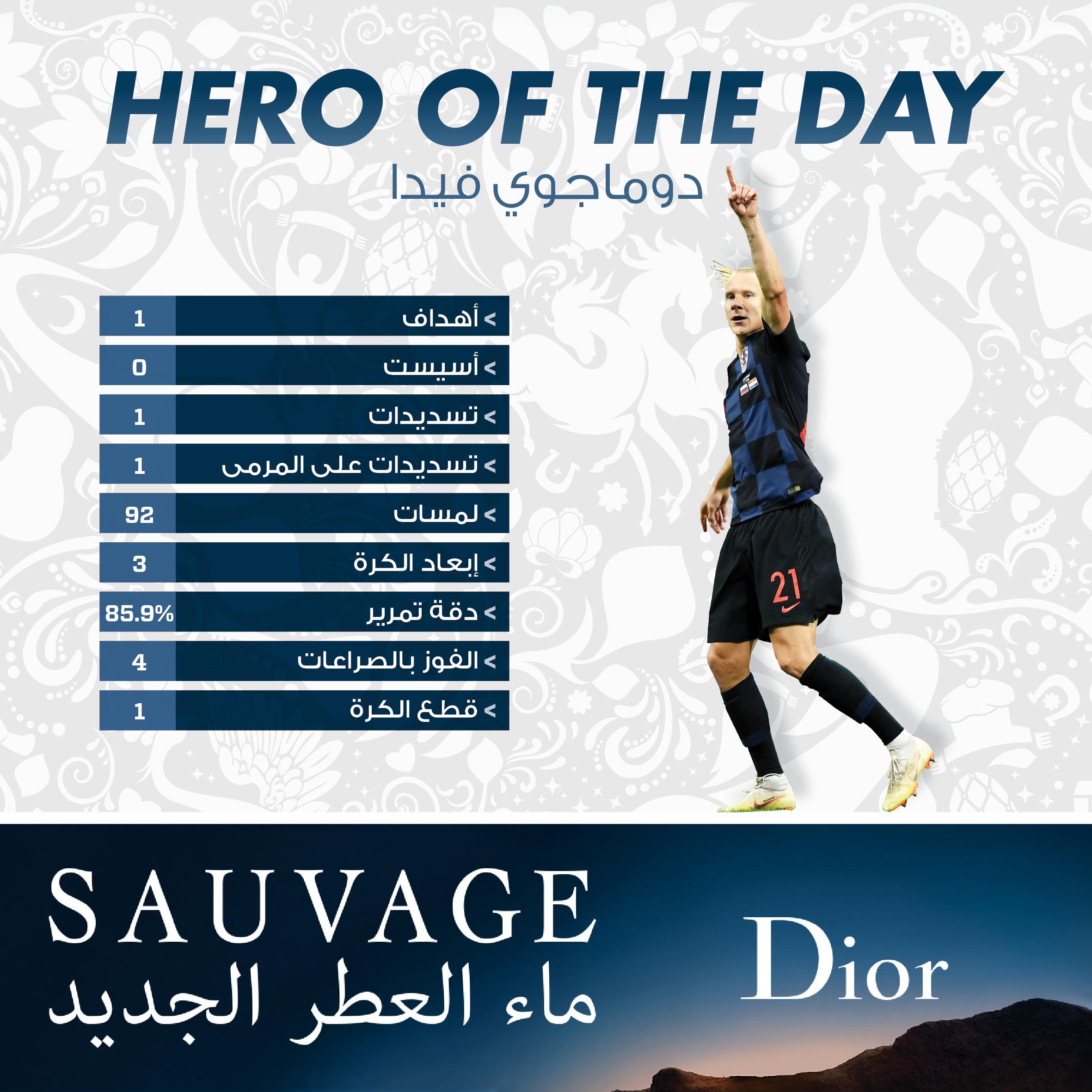 08 07 hero of day Domagoj vida Arabic