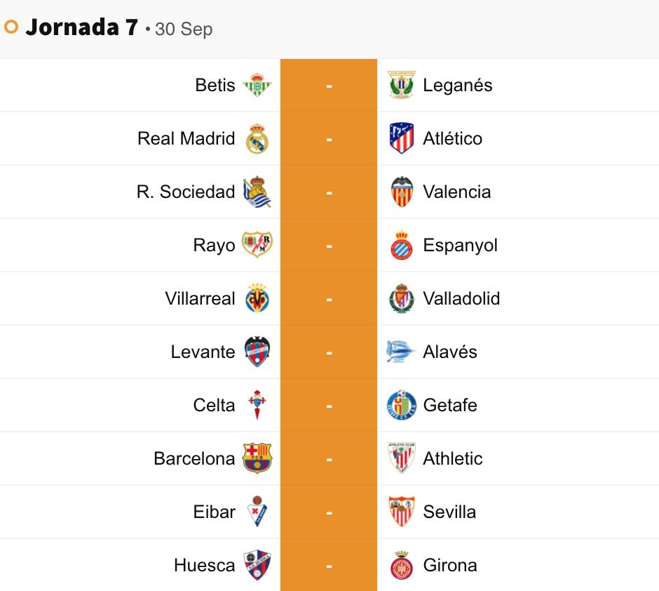 جدول مباريات الدوري الإسباني 2018 2019 سبورت 360