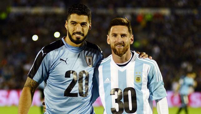 uruguay-v-argentina-Luis Suarez-Messi