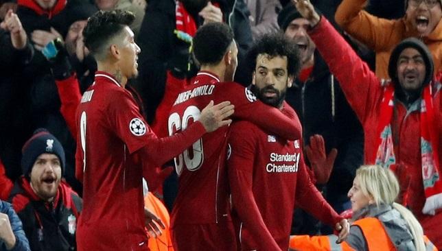 Liverpool Napoli Salah slavlje