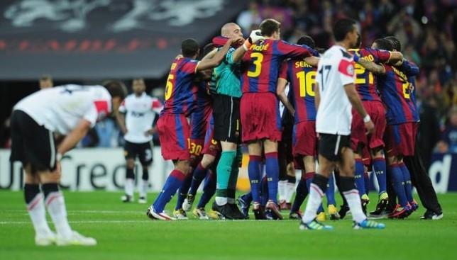 أخبار دوري أبطال أوروبا برشلونة ومانشستر يونايتد 5 لاعبين