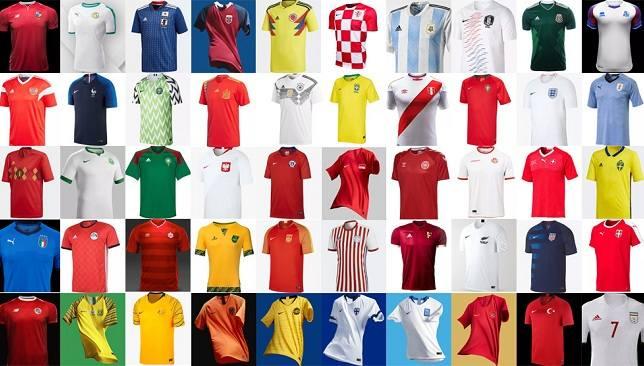 الترتيب النهائي لأجمل قمصان المنتخبات في العالم سبورت 360