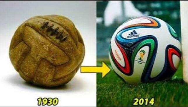 شكل الكرة تغير كثيراً