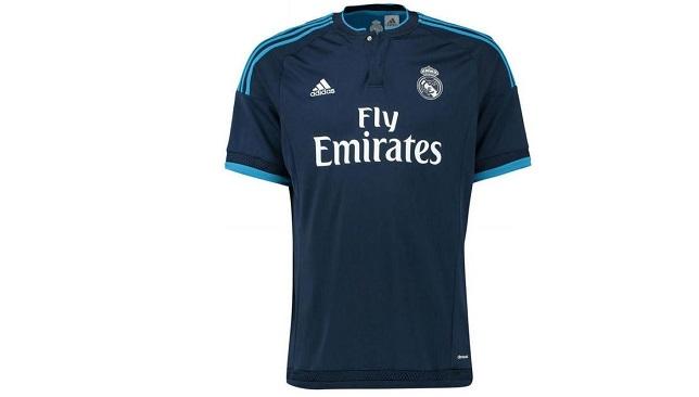 adidas-blue-2015-2016-Real-Madrid-Third-Shirt-kids-Womens-T-Shirt-In-Blue