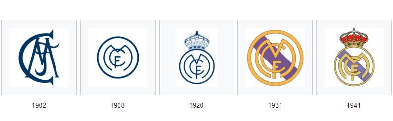 مراحل تطور شعار ريال مدريد منذ 1902 حتى 1941