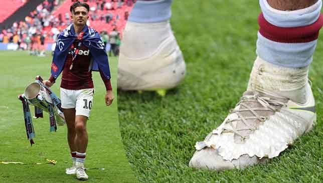 dd2e519d8 أخبار الدوري الإنجليزي.. سر الحذاء الممزق في قدمي لاعب أستون فيلا ...